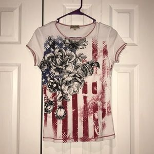 Tops - Patriotic fitted Tee